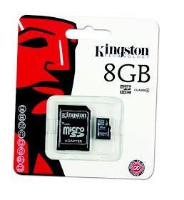 Card Memorie MicroSD 8GB Kingston