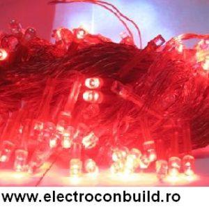 Instalatie pom 200 leduri rosii DC5T