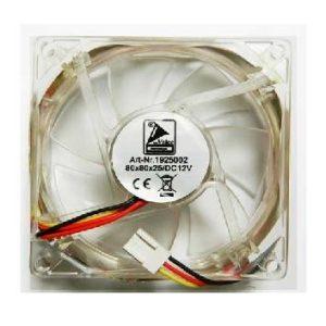 Ventilator 12V 80x80x25mm cu leduri multicolore
