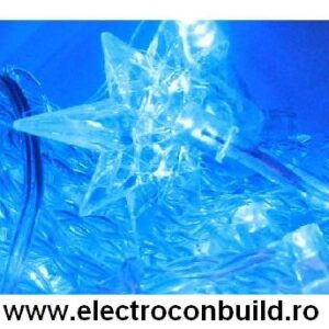 Instalatie pom 120 leduri stelute albastre