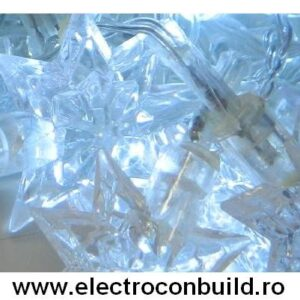 Instalatie pom 120 leduri stelute albe