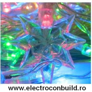 Instalatie pom 140 leduri stelute multicolore