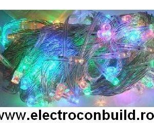 Instalatie pom 140 leduri multicolore