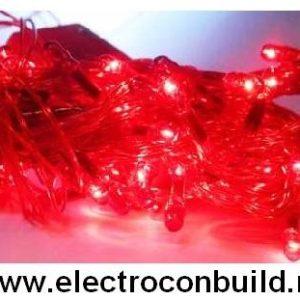 Instalatie pom 100 leduri rosii