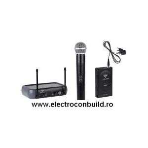 Microfon lavaliera si 1normal wireless set