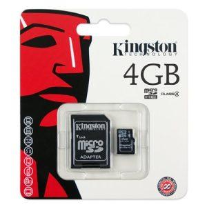 Card Memorie MicroSD 4GB Kingston