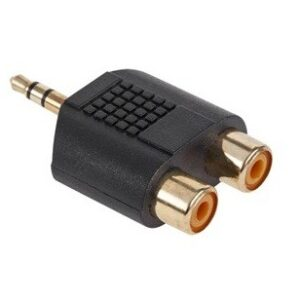 Adaptor jack 3,5mm la 2 RCA mama AD2FA
