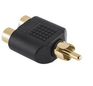 Adaptor RCA tata la 2 RCA mama AD3FA