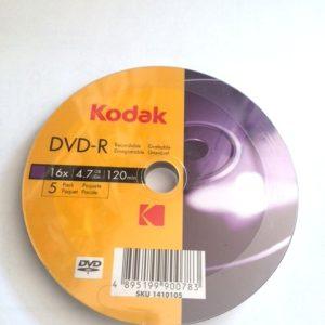 DVD-R Kodak set 5 buc FE5KD