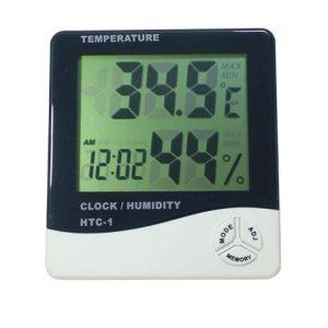 Mini termometru, ceas si higrometru FE101THF