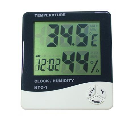 Mini termometru ceas si higrometru ED101TH