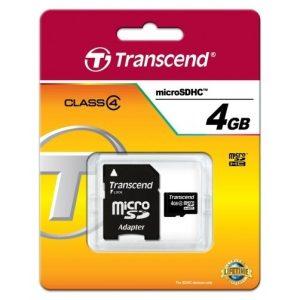 Card de memorie microSDHC 4GB Transcend