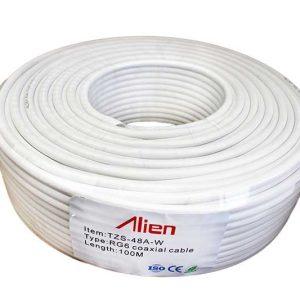 Cablu coaxial RG6 alb 48x0.12mm ED48MMR