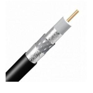 Cablu coaxial dublu ecranat Negru RG6/U6 EE6RZN