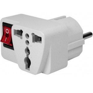 Adaptor stecher cu intrerupator EB330THE