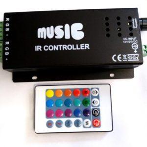 Controler RGB prin semnal audio cu telecomanda EB513THE