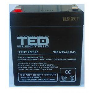 Acumulator plumb acid 12V 5,2Ah TED