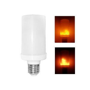BEC LED 4W E27 ALB/CALD CU EFECT FLACARA