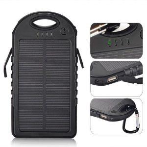 Baterie Externa Power Bank 5000 mah Incarcare Solara