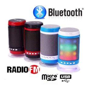 Boxă Portabila Bluetooth cu Lumini, Radio şi Microfon 3W EB1806BCB