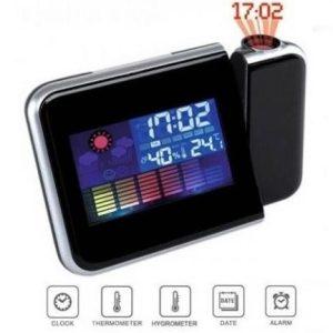 Ceas cu calendar, termometru, hidrometru si proiectie ora EB8190BCB