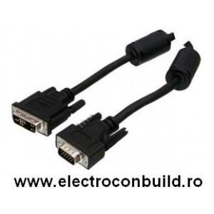 Cablu monitor LCD DVI la VGA tata 3m