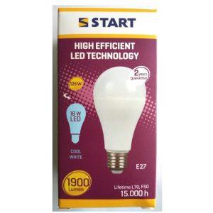 Bec E27 led 18W lumina rece START