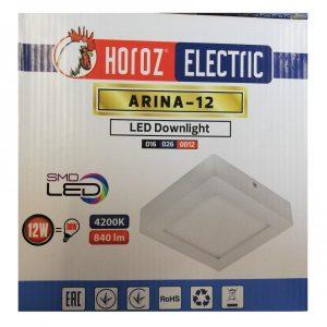 APLICA PATRATA CU LEDURI ARINA 12W 220V ED12HRZ