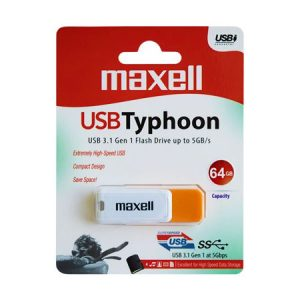 FLASH DRIVE 64GB USB 3.1 TYPHOON MAXELL ED3.1LCP
