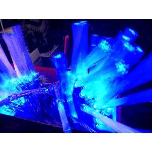 Instalatie pom cu fibra si leduri albastre