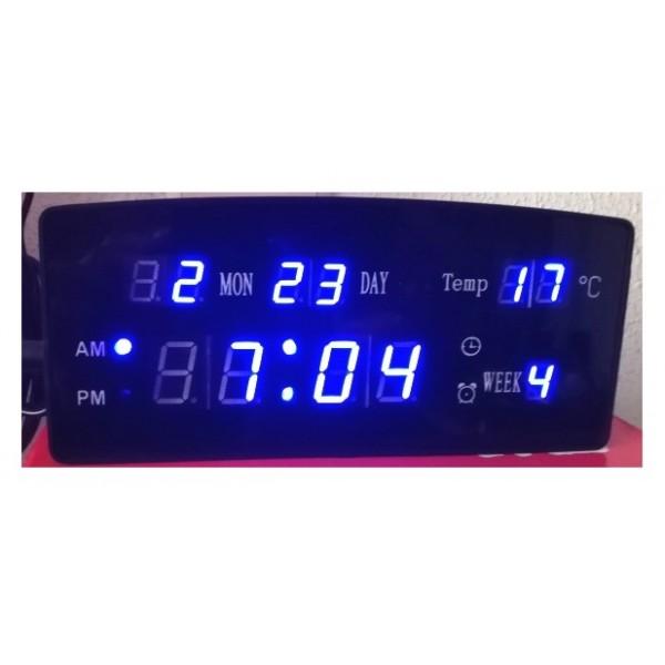 Ceas electronic afisaj digital albastru ED908