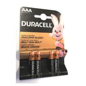 Set 4 baterii AAA alcaline Duracell
