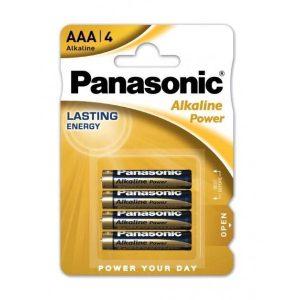 Set 4 baterii alcaline AAA Panasonic Alkaline