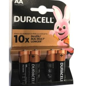 Set 4 baterii AA alcaline Duracell