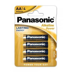 Set 4 baterii alcaline AA Panasonic Alkaline