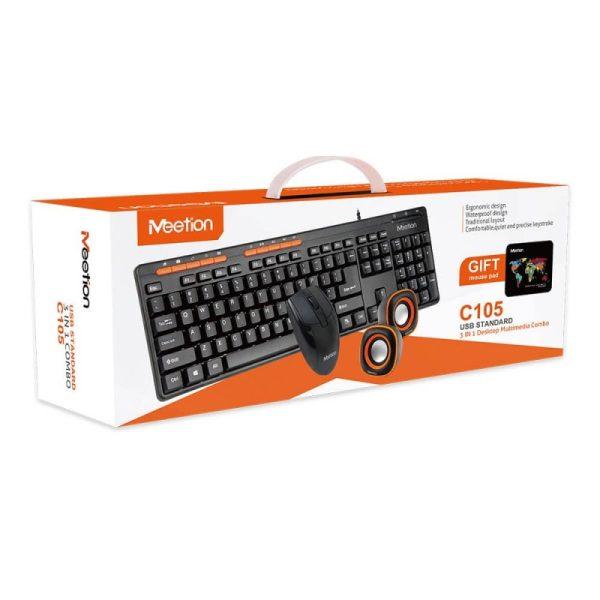 Kit Meetion Tastatura Mouse Mousepad si Boxe C105